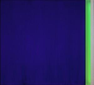 Vittorio Corsini, Sul finire dell'occhio blu, acrylic on aluminium, neon 110 x 100 cm, 2012