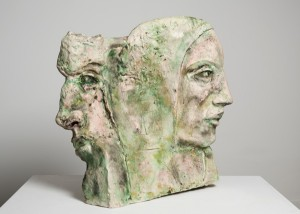 Jane Mcadam Freud: mm & mm (2010), Stoneware Clay, 55 x 54 x 12 cm