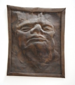 Jane Mcadam Freud: Mesh Head 2 1995, Bronze Mesh, found object, 29 x 24 cm