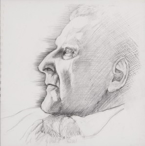 Drawing (profile) (2011), Pencil on Paper, 37 x 37 cm (framed)