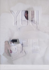 Jane Mcadam Freud: You See (2011), Photo, tracing paper, 37 x 28 cm (framed)