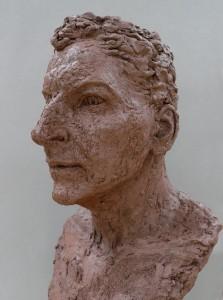 Jane Mcadam Freud: Merged Portrait (2011), Terra cotta and Sand, 54 x 35 x 30 cm