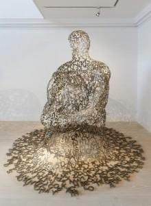 Jaume Plensa, Overflow I (2007), Stainless steel, 223 x 245 x 255 cm, 2007
