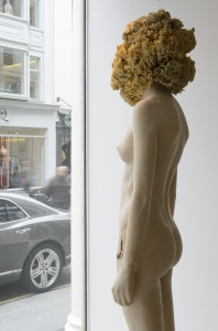 Aron Demetz, Sensa Titolo (side profile), 2013, Maplewood and silicon, 60 cm x 217 cm