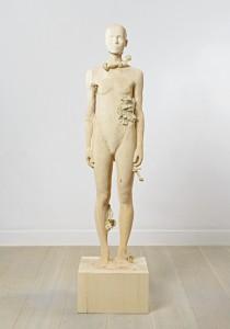 Aron Demetz, Pholiota Denuntians, 2011, Maplewood and silicon, 50 cm x 50 cm x 200 cm