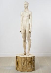 Aron Demetz, Sud (front), 2012, Limewood, 80 cm x 60 cm x 220 cm