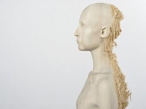 Aron Demetz, Sud (detail, side profile), 2012, Limewood, 80 cm x 60 cm x 220 cm