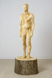 Aron Demetz, Proposta KR 150, 2013, Limewood, 75 cm x 60 cm x 235 cm
