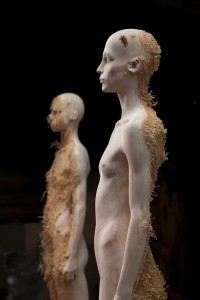 Aron Demetz, Nord (left) and Sud (right), 2012