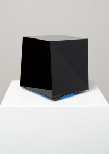 Sergio Calderon, The World is a set off Distinct Things with Varied Edges, 2013, 5 Interactive Light and Sound Sculptures, 20x20 cm