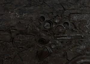 Recycle Group, Cultural Layer: Skeleton, 2012, Cast polyurethane, 200 cm high, 370 cm long, 20 cm deep