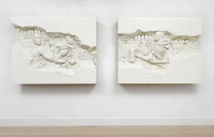Recycle Group, Archaeology 2512 III and Archaeology 2512 I, 2012, Cast plastic, 122x155x26 cm