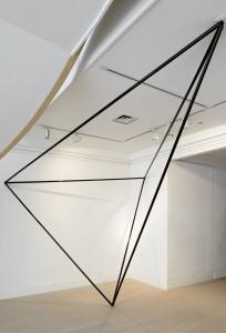 Sergio Calderon, Tetrahedron, 2013, Corten Steel (Black gloss), dimension Variable