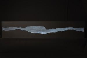 Recycle Group, Crack, 2012, Cast acrylic band plastic, plaster, lighting, 60x200x18 cm