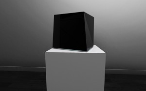 Sergio Calderon, The World Is A Set Of Distinct Things With Varied Edges, 2013. 5 Interactive Light and Sound Sculptures, 20x20 cm Credits: produced by Nanika and The Unlimited Dream Company Music: Chihei Hatakeyama Architect: Teruyuki Nomura