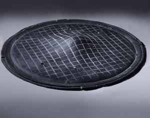 Recycle Group, Manhole 2012, Cast polyurethane, electric motor, 20 cm high, 80 cm diameter