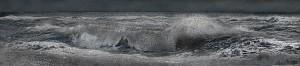 Aziz + Cucher, Wave Nocturne, c-print on Endura Metallic paper with diasec mount, 38 x 172cm, 2013