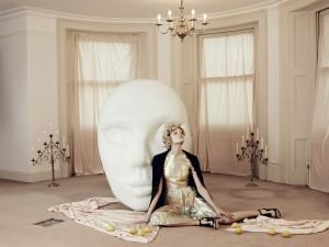 Elena Rendina, White Mask on a Cream Room, 67.5 x 90 cm, Archival C-Type print on matt paper, 2013