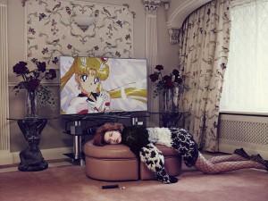 Elena Rendina, Yumi Watching Tv, 67.5 x 90 cm, Archival C-Type print on matt paper, 2013