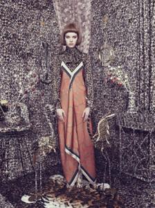 Elena Rendina, Gwen wearing an orange dress, 80 x 60 cm, Archival C-Type print on matt paper, 2013