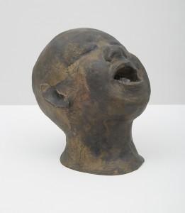 Una testa e un universo senza titolo 5, 2015, bronze, 20 x 20 x 35 cm
