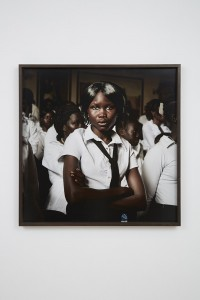 Alinka Echeverría, Anthem. Becoming South Sudan Chapter I, 2011, c type print on archival photographic paper mounted on archival museum board in hand stained hardwood frame, 78 x 78 cm