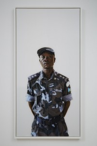 Alinka Echeverría, Officer Jackson Onek Paul. Becoming South Sudan: Chapter III (Graduation Day), 2011, c type print on archival photographic paper diaces mount in hand stained tray frame, 63.5 x 127 cm