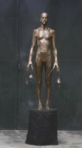 Aron Demetz, Heimat 3, 2013, bronze, 240 x 96 x 70c