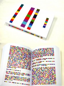 Nineteen Eighty-Four Bound book, enciphered in colour, 3 cm x 15 cm x 21cm, 2010