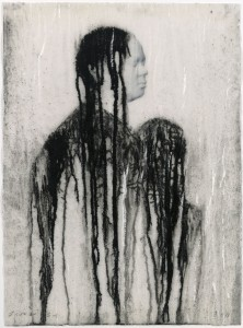Veiled Shadow XLVI 2011 Mixed media on paper 16 1/2 x 11 3/4 in. (42 x 30 cm) Courtesy of the Artist and Richard Gray Gallery