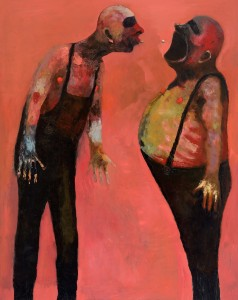 Two (Spit) Oil on canvas, 160 x 130 cm, 2012