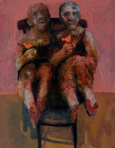 On a Chair Oil on canvas, 146 x 114 cm, 2012