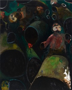 Bodies Oil on canvas, 162 x 130 cm, 2012