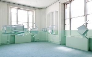 Green House Furniture, paint, fishing wire, dimensions variable, 2009