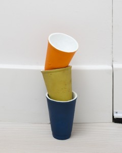 Shan Hur , Cups, 2012, Bronze 30 x 8 x 10 cm