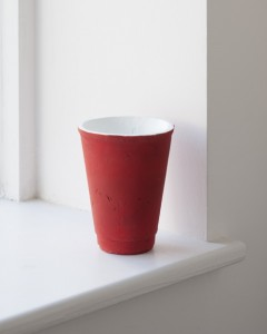 Shan Hur, Red Cup, 2012, Bronze, 10 cm x 8 cm