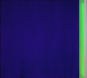 Sul finire dell'occhio blu Acrylic on aluminium, neon, 110 x 100 cm, 2012