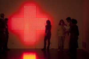 Esercizio 1 Plexiglass, led, 200 x 200 x 25 cm, 2010