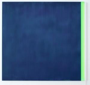 Sul finire dell'occhio verde Acrylic on aluminium + neon, 160 x 150 cm, 2012