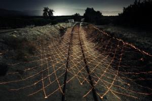 Aaron Koblin & Ben Tricklebank - Untitled #5 (Light Echoe Print Series) 2014, 38 x 55, digital mount print
