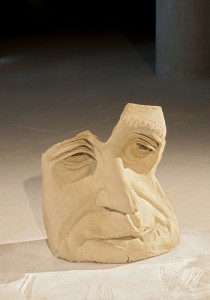 Stone Speak 2 Jane McAdam Freud: clay sculpture 81.5 x 71 x 40.5, 2010