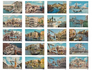 "Holly Stevenson, ""Venice Without a Guide"" postcards, detail"