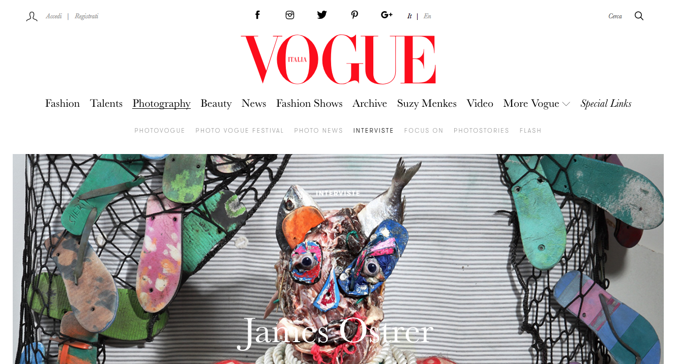 JAMES OSTRER INTERVIEW | VOGUE ITALIA | JULY 2018