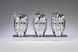 Clive-Barker-Three-Hand-Grenades-Sculpture-Gazelli-Art-House