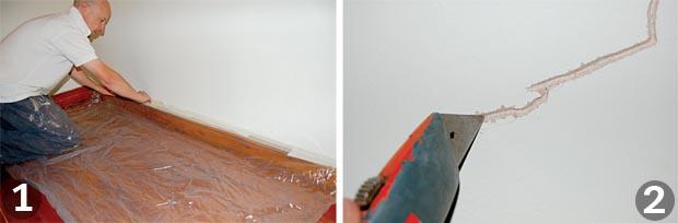 Hairline crack repair plaster