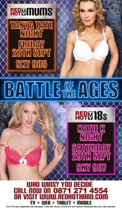Tanya Tate and Katie K in the RED HOT TV Battle of the Ages