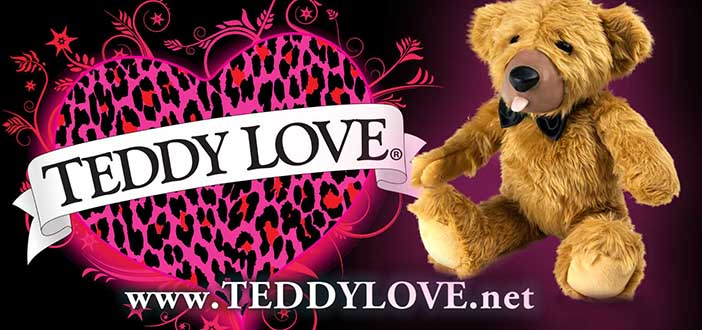 AndrewBlake.com carrying Teddy Love Bear