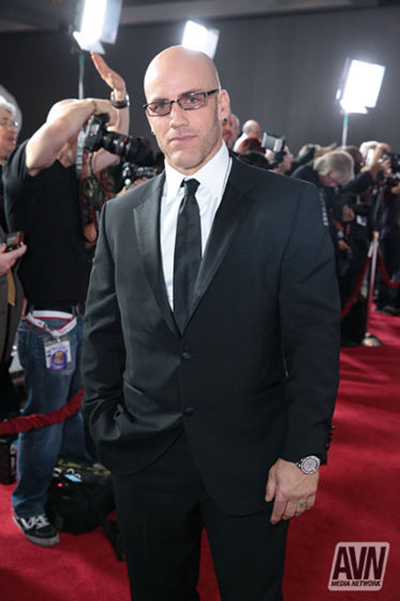 Derrick Pierce on AVN Awards red carpet