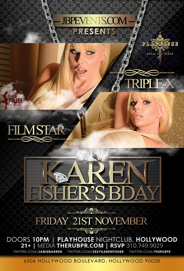 MILF Karen Fisher birthday party poster