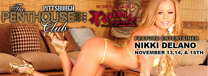 Nikki Delano Is Featuring at Pittsburgh's Penthouse Club